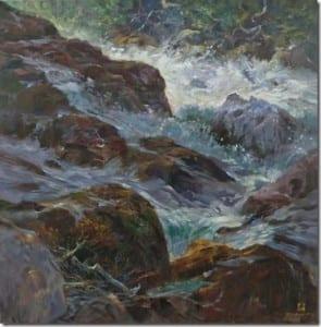 """Overflow"" by Rick J. Delanty, 36x36"