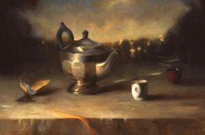 Juliette Aristides – Silver Teapot – 16″x 22.5″ – Oil