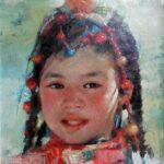 WangOPA-JanPeng-TibetGirl-9x12-$1250