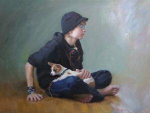 'Luke At 15' 36x48 Oil