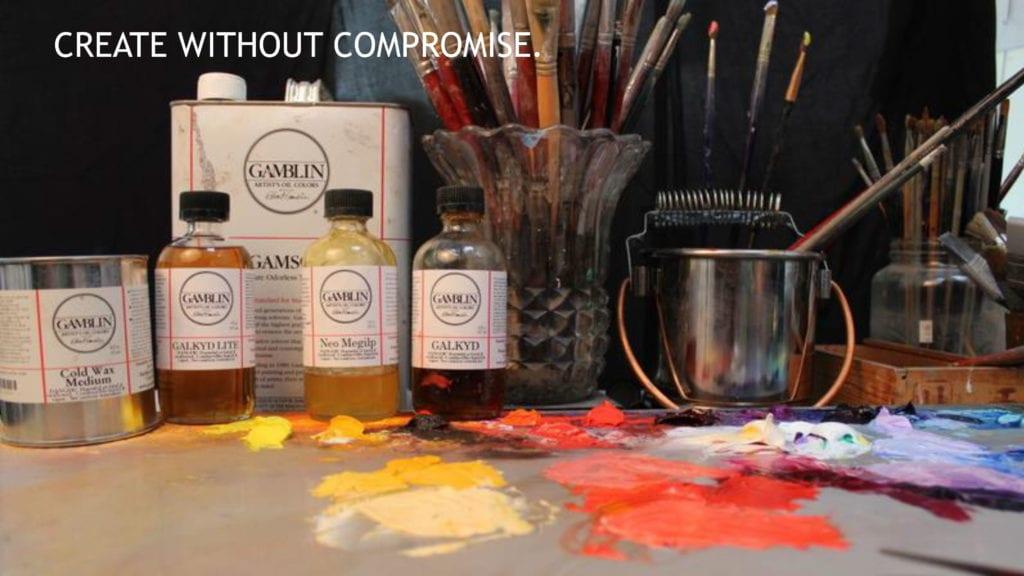 Image: Gamsol, Galkyd painting mediums, Gamvar