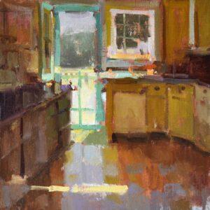 """""""Cottage Kitchen"""", 16x16 oil on linen"""