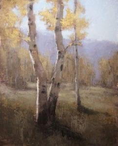 """Autumn Aspens"" by Jane Hunt"