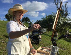Eli Cedrone painting In Bermuda