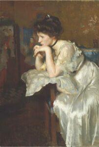 edmund-tarbell-reverie-1913-bostonmuseumoffinearts