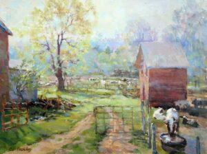 "Christine Lashley, Open Gate, oil, 12x16"""