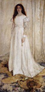 "Whistler James Symphony in ""White number 1 The White Girl"" 1862"