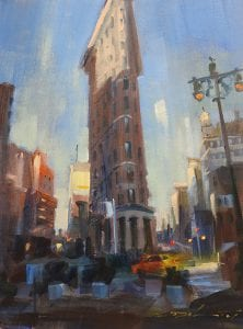 Rick Delanty - The Flatiron, Early Morning - 12x9